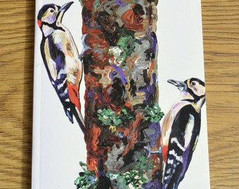 Woodpeckers Design/ A6 Notebook (15cm x 10cm)