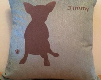 Personalised Teacup Chihuahua Dog Cushion
