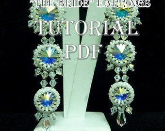 Beading - Patterns - Step by step  - Tutorials - Jewellery making  - Bride Earrings - Beaded earrings - Handmade jewelry - Guide