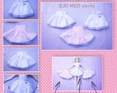 BJD MSD 1/4 Fairy kei skirt (polka dot, stripes, checks)