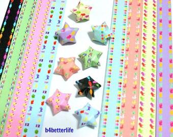250 strips of DIY Origami Lucky Stars Paper Folding Kit. 26cm x 1.2cm. #C125. (XT Paper Series).