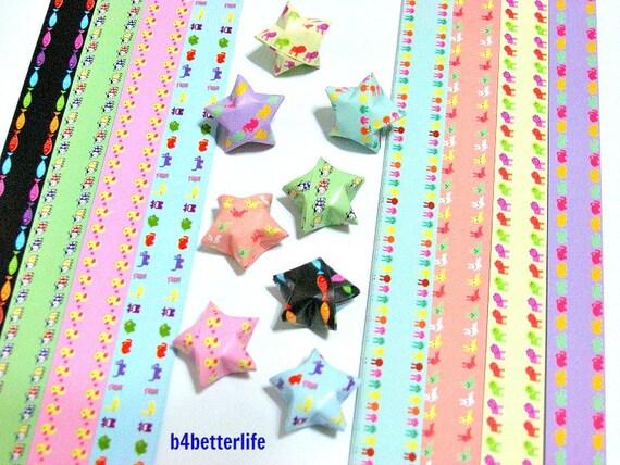 250 strips of diy origami lucky stars paper folding kit for Diy lucky stars