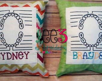 Monogrammed Personalized Tooth Fairy Pillow