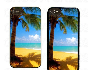 iPhone 4 4s 5 5s 5c SE Case Rubber Tropical Beach