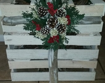 Handmade Natural Pine Cross Decoration. ( 1 PC)