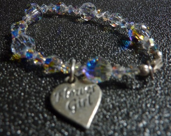 "BEEutiful Round Swarovski Crystal Flower Girl Bracelet -- ""Marcail"""
