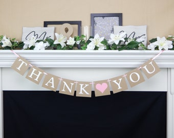 Thank you banner, rustic wedding banner, thank you sign,wedding decor, photo prop banner, thank you, wedding banners, thank you wedding sign