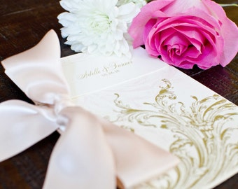 Blush & Gold Wedding Program