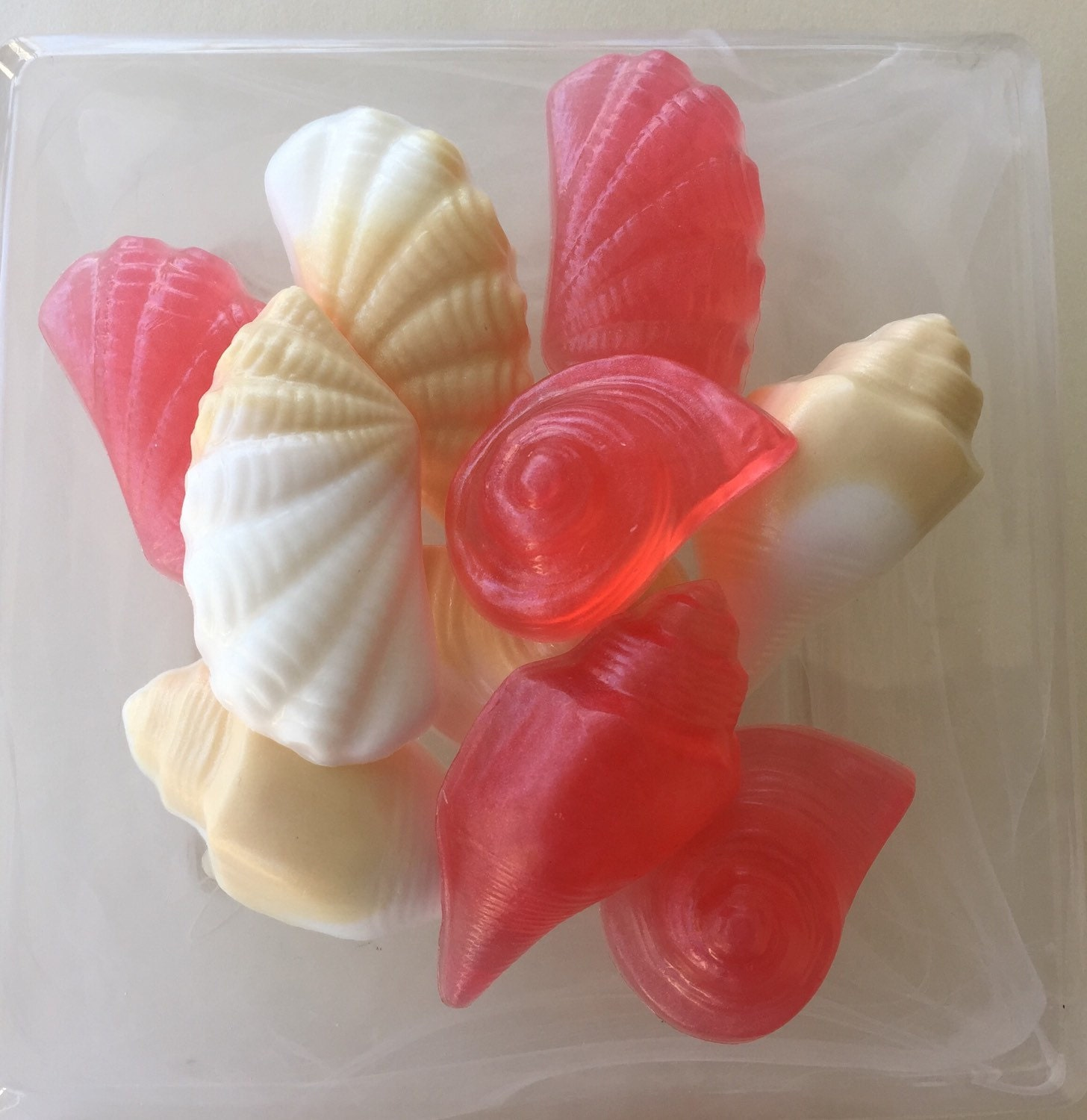 Coral And Sand Seashell Soaps Set Of 9 Mini Soaps Sunset