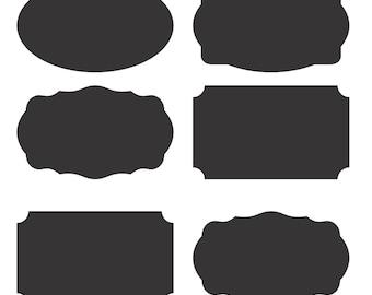Chalkboard Labels for Mason Jars - The Black Label