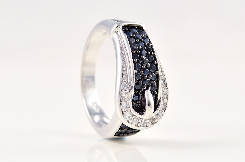mothers ring white gold jewelry black by uxorboutique
