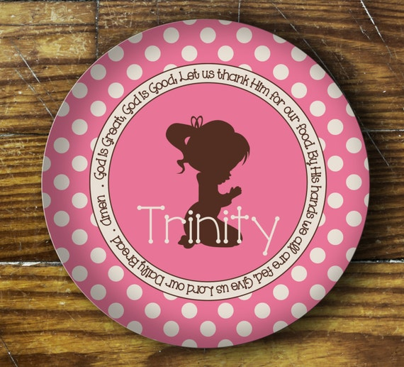 Personalized Dinner Plate or Bowl-Prayer Child