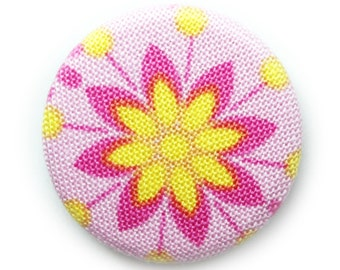 Flower pin back button or magnet