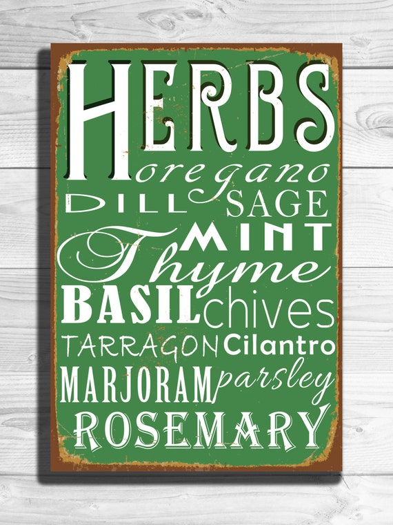 Kitchen Sign Vintage Style Metal Kitchen Sign By