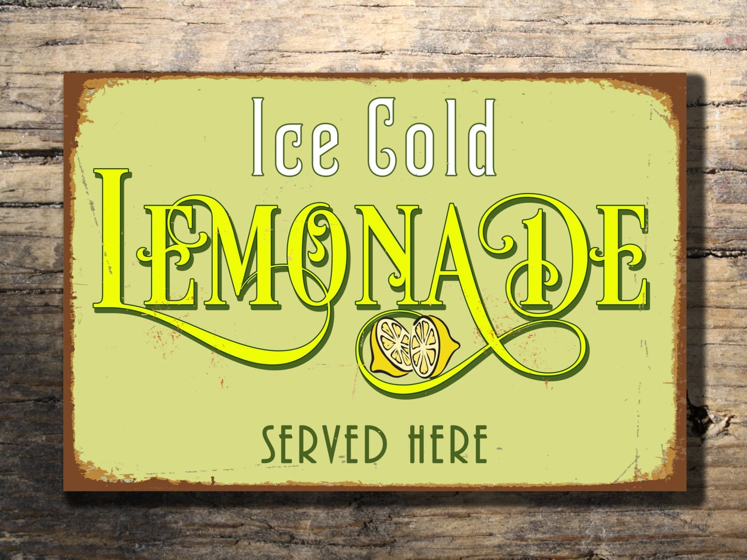 LEMONADE SIGN Lemonade Signs Vintage style by ...