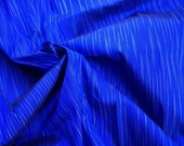 Handwoven 100% Thai silk. Cobalt and silver 2 yds/1.8m