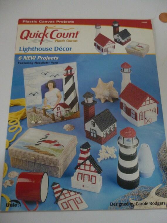 Plastic Canvas Lighthouse D 233 Cor Pattern Book Quick Count Pc
