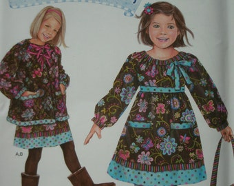 Girls Dress, Jacket and Bag in Girls Sizes 5-6-7-8 Simplicity Daisy Kingdom Pattern 0701 Springs Creative Pattern Dated 2010 NEW PATTERN