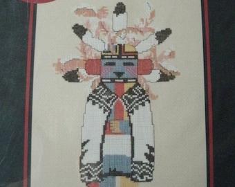 Akush - Shalako Warrior Kachina No. 1001 Counted Cross Stitch From Canyon Crafts Chart Only American Indian Motif NEW GRAPH