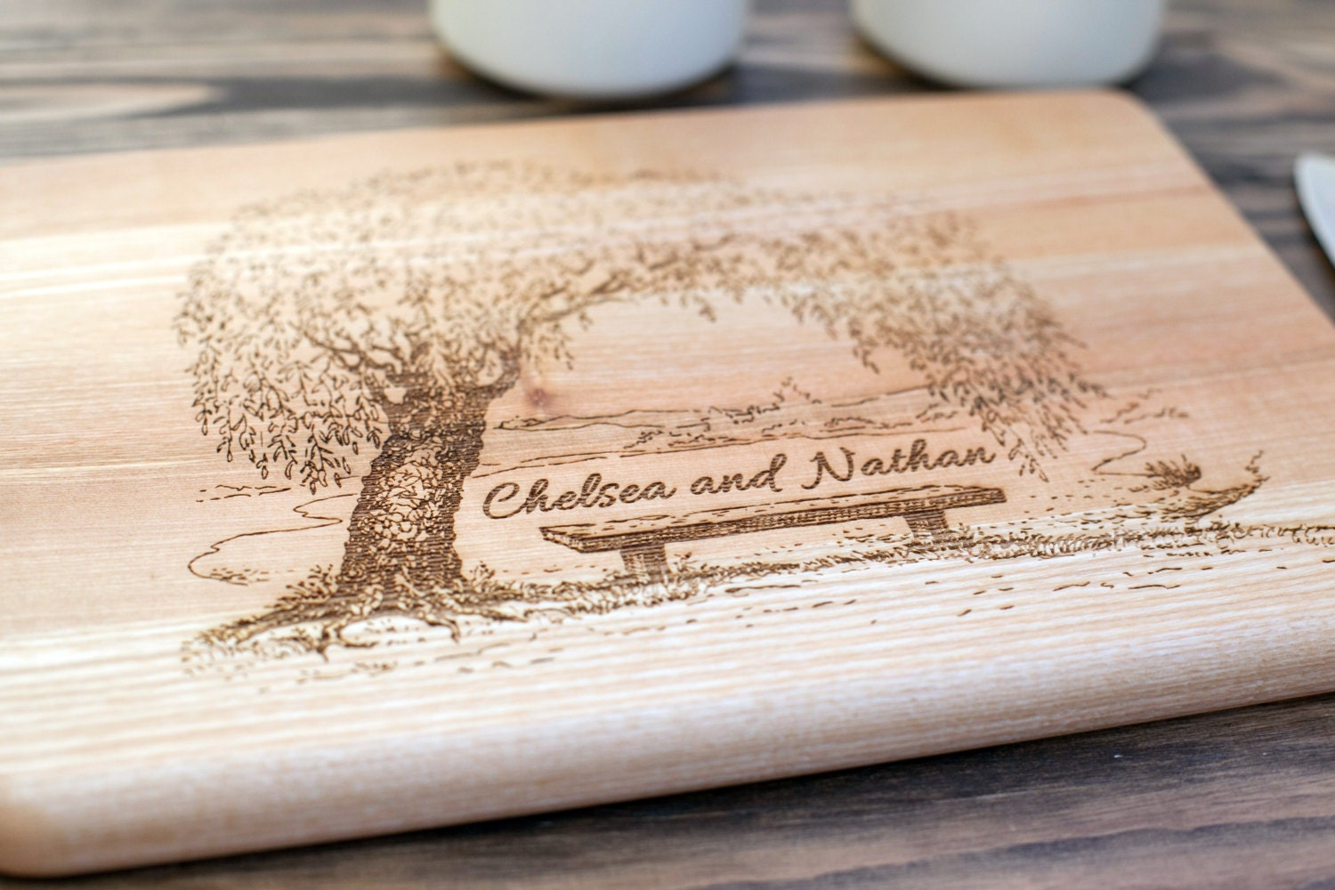 Wedding Gift Cutting Board: Cutting Board Wedding Gift Engagement Gift Anniversary By