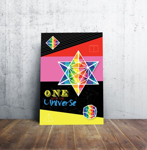 Sacred Geometry Poster - Sign - One With the Universe!