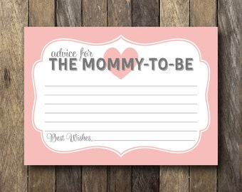Printable Advice for Mommy to Be - Instant Download Advice Card - Baby Shower - Printable Advice Card - Baby Shower Advice - Mommy Advice