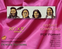 Peyote Tapestry Pattern - Founding Fathers Beading Pattern 20x5 inch Approx