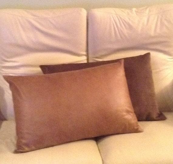 faux suede pillowcase to fit standard size pillow decorative. Black Bedroom Furniture Sets. Home Design Ideas