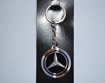 Mercedes benz keychain metal emblem car logo accessories for Mercedes benz keychains