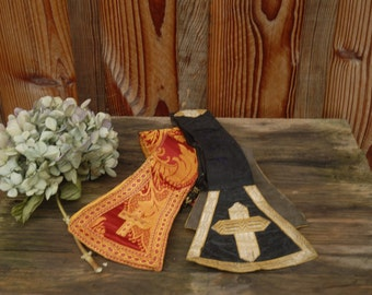 set of two liturgical stoles priest