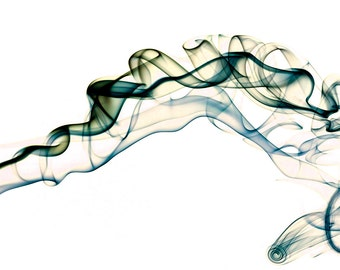 Fine Art photograph of smoke against white background