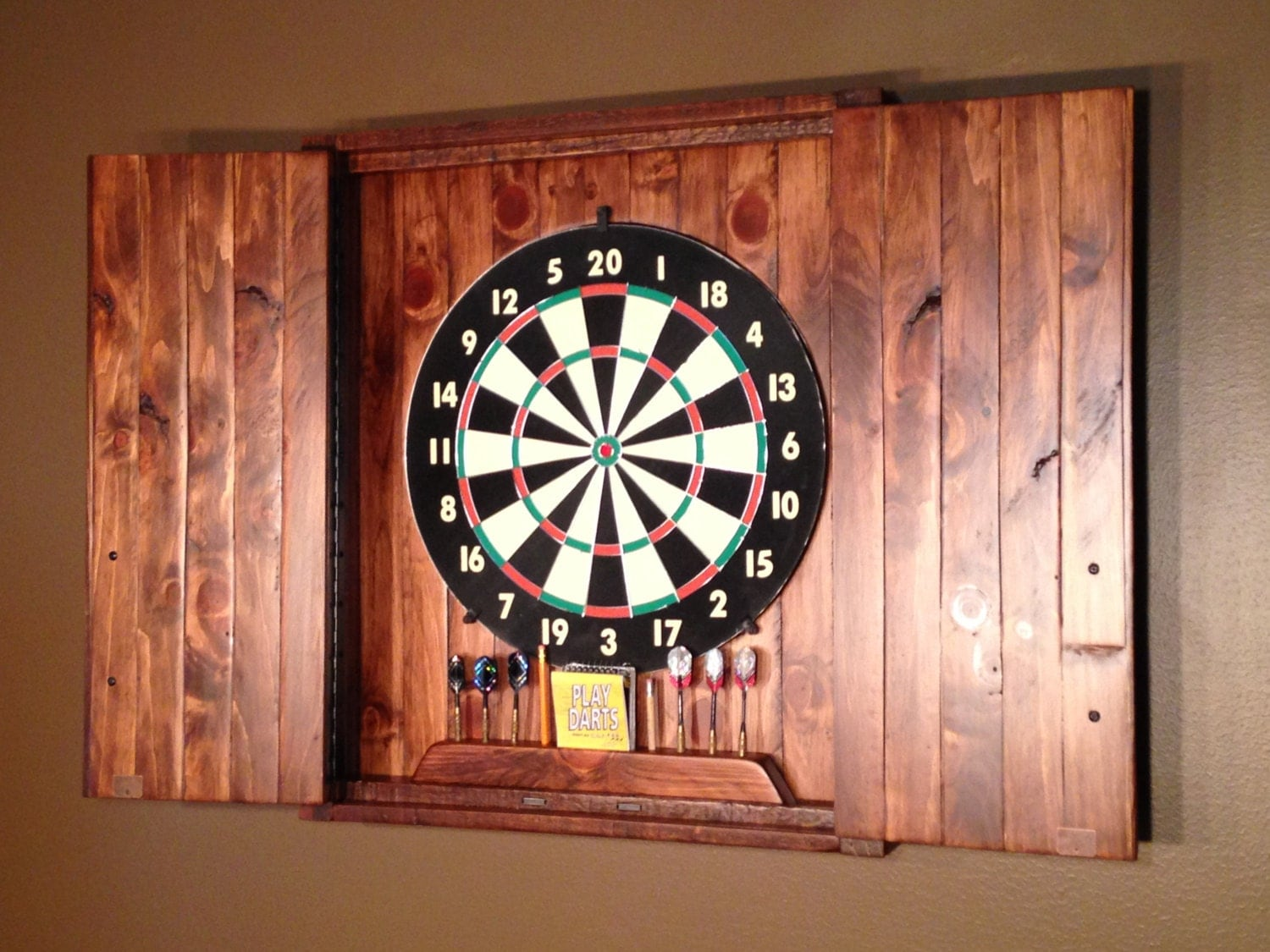 Rustic Dartboard Cabinet Cedar Home Decor Home &