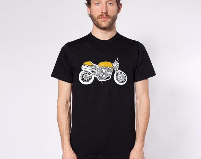 KillerBeeMoto: Limited Release Italian Engineered Cafe Racer Side View Color Short & Long Sleeve Motorcycle Shirt
