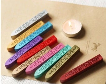Set of 10 colors Sealing Wax Set - Seal Wax - Stamp Wax - Wax - Sealing Wax Seal for letter stamp