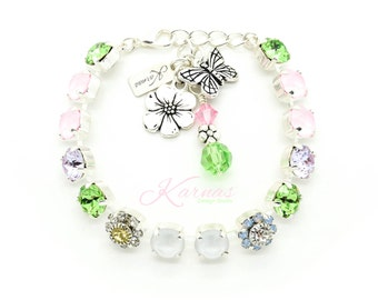 SPRING FLING 8mm Bracelet Made With Swarovski Crystal *Pick Your Finish *Karnas Design Studio *Free Shipping* Award Winner!