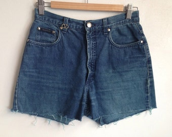 VALENTINO cut off denim shorts