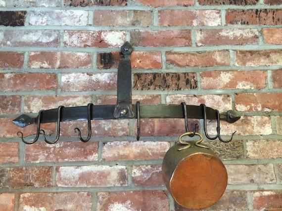 Wrought Iron Pot Rack Wall Mounted Pot Rack