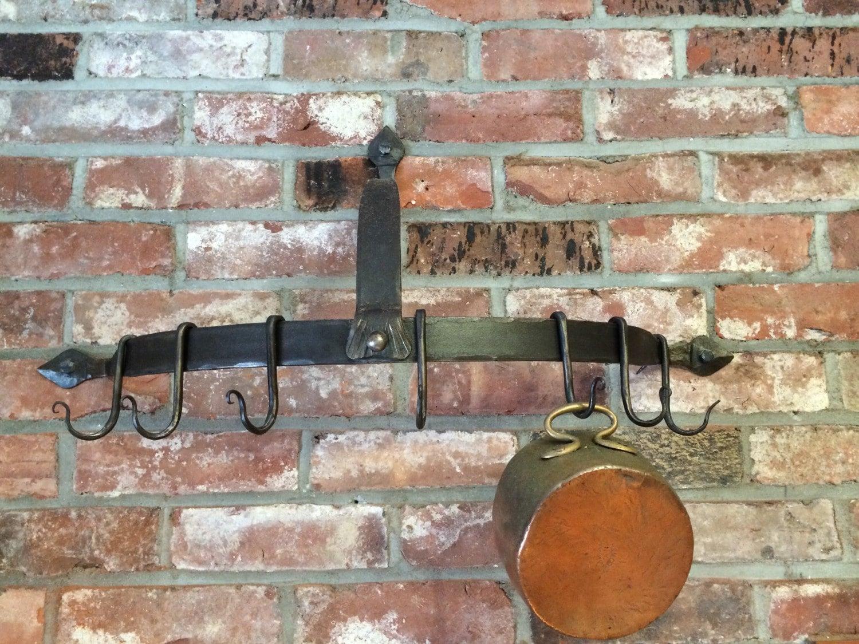 wrought iron pot rack wall mounted pot rack. Black Bedroom Furniture Sets. Home Design Ideas