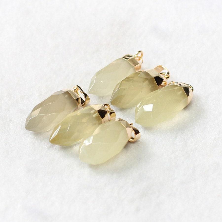 faceted lemon quartz pendant for lemon quartz necklace