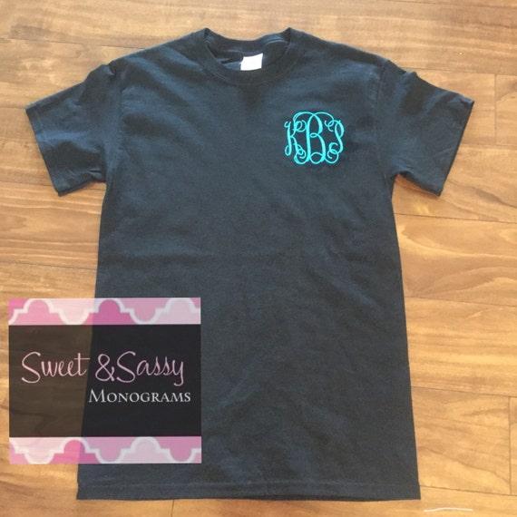 Custom Embroidered Monogrammed T Shirt Monogram Shirt
