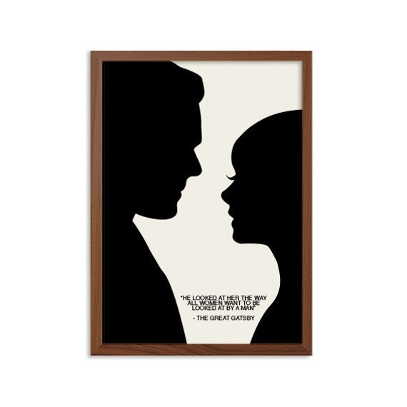 Great Gatsby He Looked At Her Poster Jay Daisy Modern