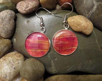 Pressed Dhalia Drop Earrings - Pressed Flower Earrings (Silver) - 18mm Drop Earrings