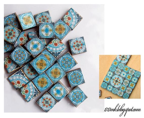 Kit Miniature Moroccan Tile Kitchen To Dollhouse Miniature