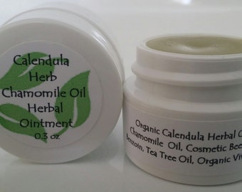 Organic Herbal Ointment  Calendula & Chamomile