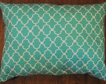 Turquoise Arabesque Pillow