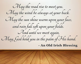 Old Irish Blessing ~ Large Vinyl Wall Decal