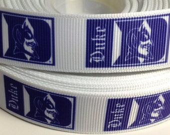 "3 Yards of Duke Blue Devils 7/8"" Grosgrain Ribbon"