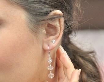 Earrings wedding transparent Crystal