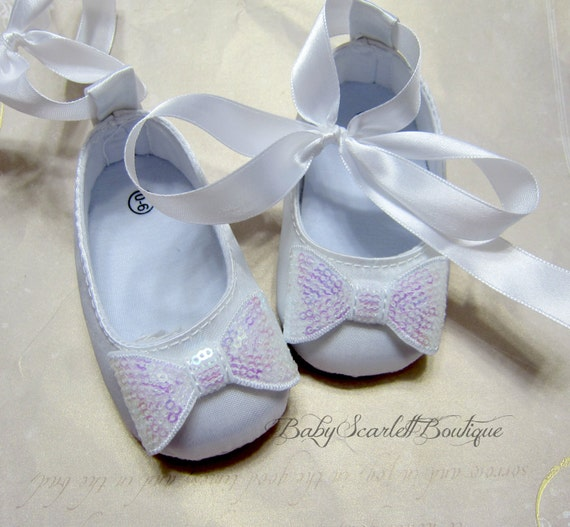 white satin baby shoeschristening shoes