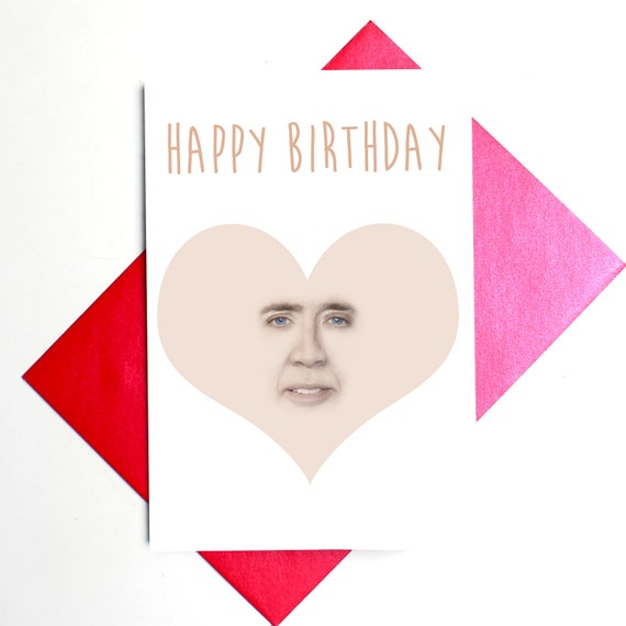 Nicolas Cage Happy Birthday Card 2018 Images Pictures